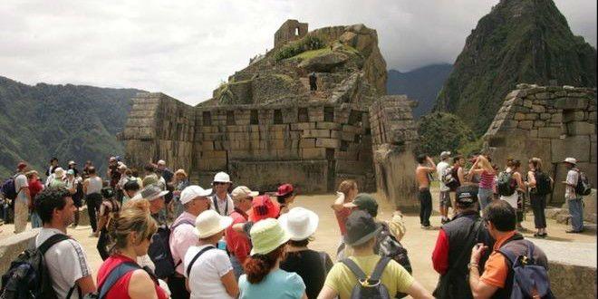 turistas en la ciudad del cuzco