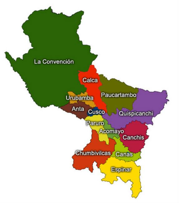 mapa del cusco