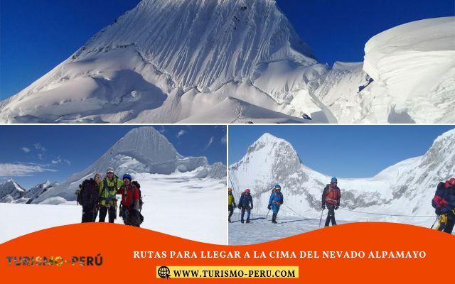 tour y guias para llegar a la cima del nevado alpamayo