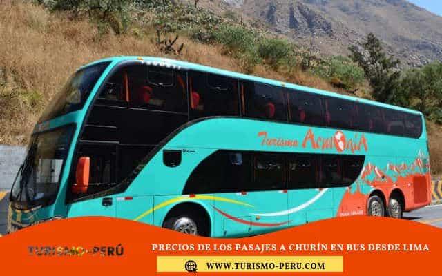 Precios de los pasajes a Churín en bus desde Lima
